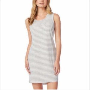 32 Degrees Cool Large Dress Striped Gray